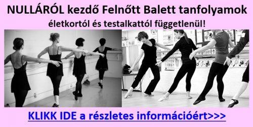Balett oktatás felnőtteknek