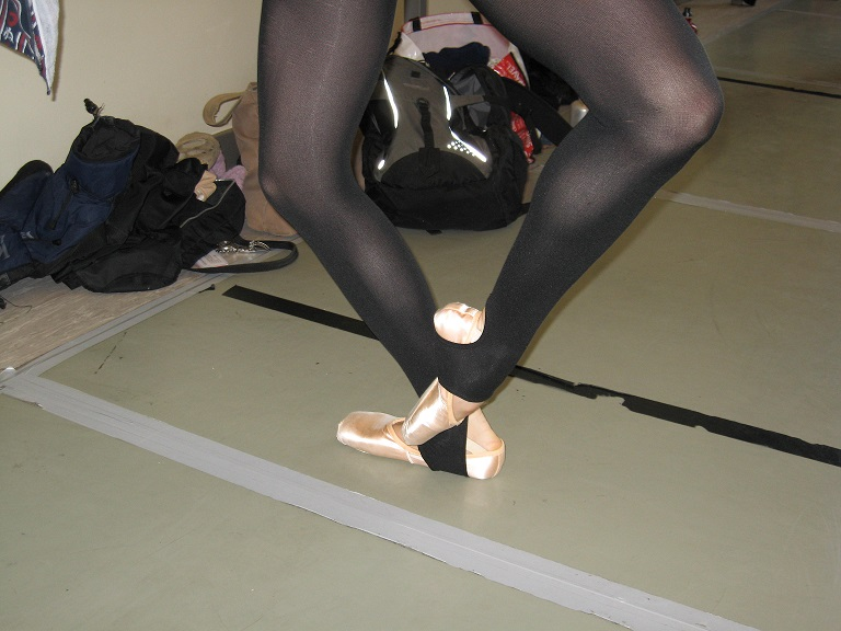 Balett fondu spicc cipőben